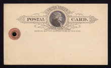 UX9 UPSS# S8 1c Thomas Jefferson, Black on Buff ESSAY Postal Card for Parcel Tag