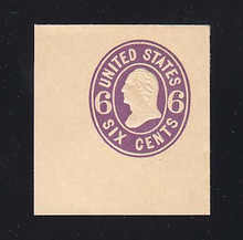 U65 6c Purple on Buff, Mint Full Corner, 42 x 45