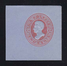 U151 2c Vermillion on Blue, die 6, Mint Cut Square, 47 x 47