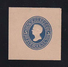 U180 5c Blue on Fawn, die 2, Mint Cut Square, 45 x 45