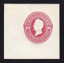 U211 90c Carmine on White, Mint Full Corner, 50 x 50