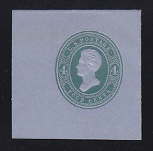 U253 4c Green on Blue, die 1, Mint Cut Square, 47 x 47