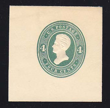 U256 4c Green on White, die 2, Mint Cut Square, 47 x 47