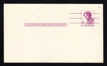 UX48 UPSS# S66A 4c Abraham Lincoln Unused Postal Card, Splashes of Ink