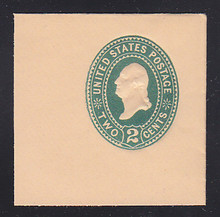 U307 2c Green on Oriental Buff, die 1, Mint Full Corner, 50 x 50
