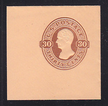 U338 30c Red Brown on Oriental Buff, Mint Full Corner, 50 x 50