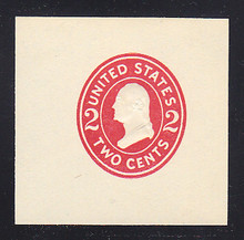 U411f 2c Carmine on White, die 7, Mint Cut Square, 47 x 47