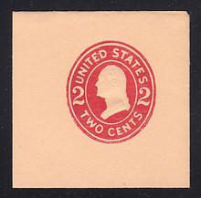 U413g 2c Carmine on Oriental Buff, die, 8, Mint Full Corner, 50 x 50