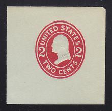 U414g 2c Carmine on Blue, die, 8, Mint Full Corner, 50 x 50