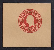 W434 2c Carmine on Brown (Glazed), Mint Full Corner, 50 x 50