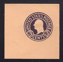 U438b 3c Dark Violet on Oriental Buff, die 6, Mint Full Corner, 50 x 50