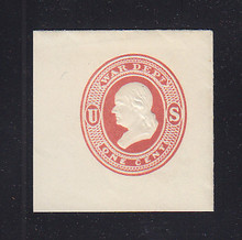 UO44 1c Red on White, Mint Full Corner, 43 x 43