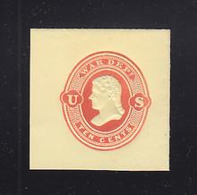 UO60 10c Red on Amber, Mint Full Corner, 40 x 41