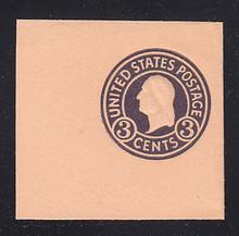 U438c 3c Dark Violet on Oriental Buff, die 7, Mint Full Corner, 50 x 50