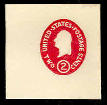 U533b 2c Washington, Carmine, die 2, Mint Full Corner
