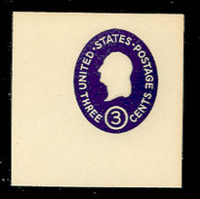 U534 3c Washington, Dark Violet, die 4, Mint Full Corner