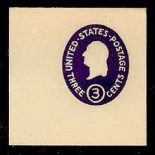 U534c 3c Washington, Dark Violet, die 3, Mint Full Corner