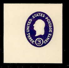 U534d 3c Washington, Dark Violet, die 5, Mint Full Corner