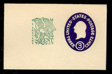 U540c 3c + 1c Washington, Dark Violet, die 5, Mint Full Corner