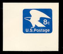 U557 8c Ultramarine Eagle, Mint Full Corner