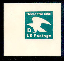 "U607 (22c) Deep Green ""D"" Nondenominated, Mint Full Corner"