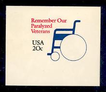 U605 20c Paralyzed Veterans, Mint Full Corner