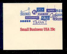 U606 20c Small Business, Mint Full Corner