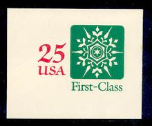 U613 25c Snowflake, Mint Full Corner