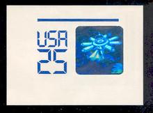 U617 25c Space Hologram, Mint Full Corner