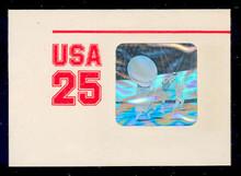 U618 25c Football Hologram, Mint Full Corner