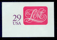 U621 29c Love, Mint Full Corner