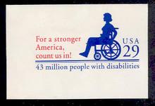 U629 29c Disabilities, Mint Full Corner
