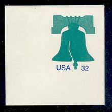 U632 32c Liberty Bell, Mint Full Corner