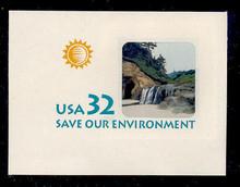 U640 32c Save the Environment, Mint Full Corner