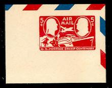 UC17 5c Centenary, Carmine, Rotary plate, Mint Full Corner