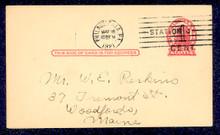 UX32 UPSS# S44-33, Philadelphia Surcharge, Used Postal Card