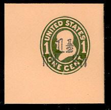 U512 1 1/2c on 1c Green on Oriental Buff, die 1, Mint Full Corner