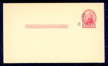 UX33 UPSS# S45-6, Buffalo Surcharge, Mint Postal Card