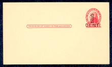 UX33 UPSS# S45-8, Charleston Surcharge, Mint Postal Card