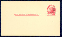 UX33 UPSS# S45-16, Indianapolis Surcharge, Mint Postal Card