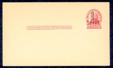 UX33 UPSS# S45-40, San Antonio Surcharge, Mint Postal Card