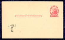 UX33f UPSS# S45-44f, Washington Inverted Surcharge, Mint Postal Card