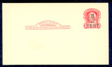 UPSS# S49-2, Cleveland Surcharge, Mint Postal Card