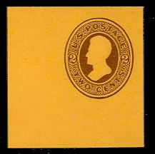 U80 2c Brown on Orange, Mint Cut Square, 50 x 50