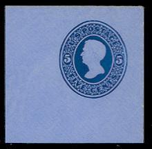 U175 5c Blue on Blue, die 1, Mint Full Corner, 50 x 50