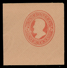 U184 6c Red on Fawn, Mint Full Corner, 50 x 50