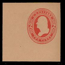 U239 2c Red on Fawn, Mint Cut Square, 47 x 47