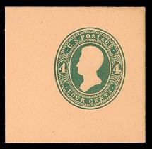 U252 4c Green on Oriental Buff, die 1, Mint Full Corner, 50 x 50