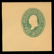 U315 2c Green on Manila, die 2, Mint Full Corner