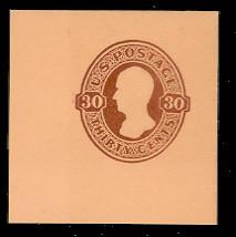 U338 30c Red Brown on Oriental Buff, Mint Full Corner, 48 x 48